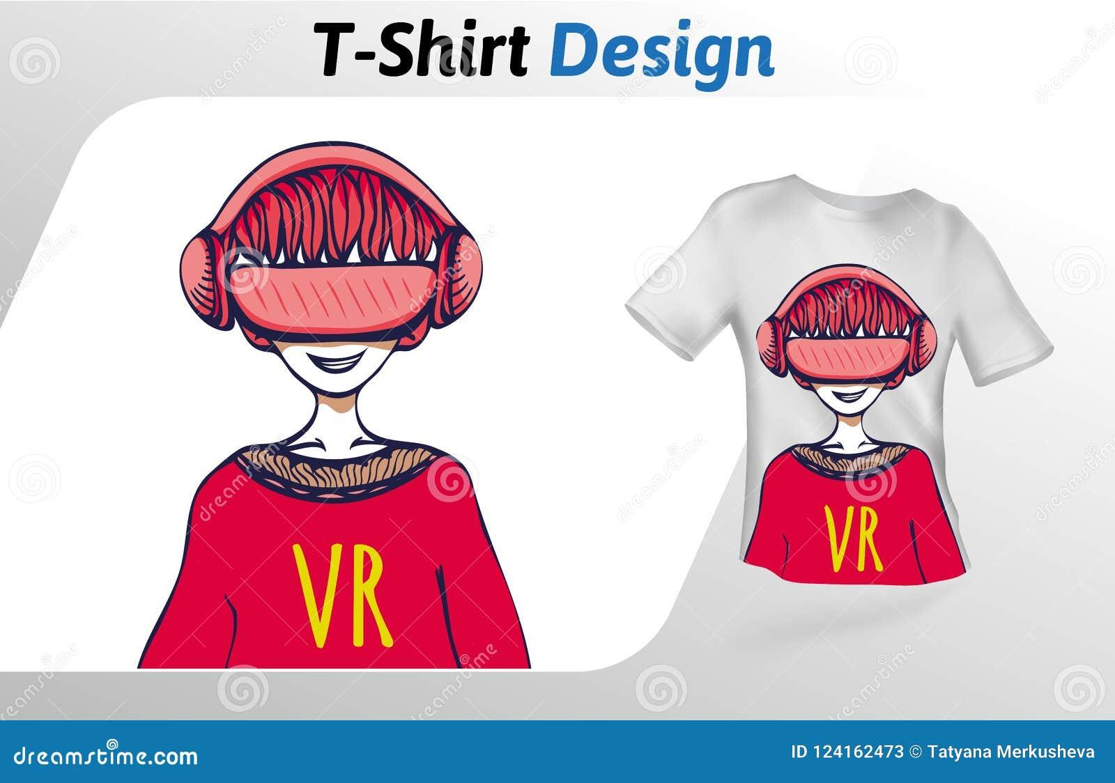guy in vr headset having a good time t shirt print mock up t shirt