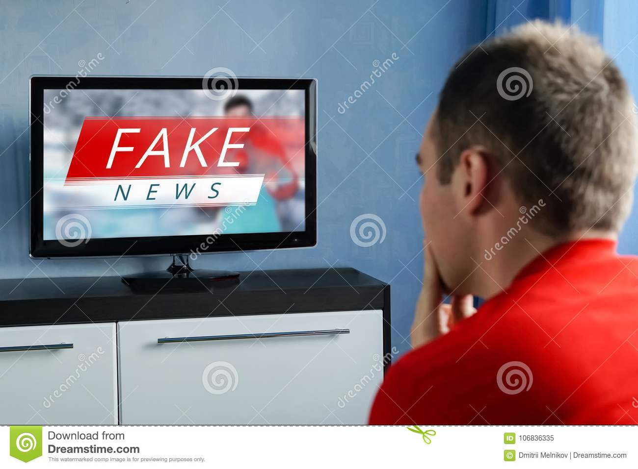 The Guy Watching The Fake News On TV  Corrupt Journalism
