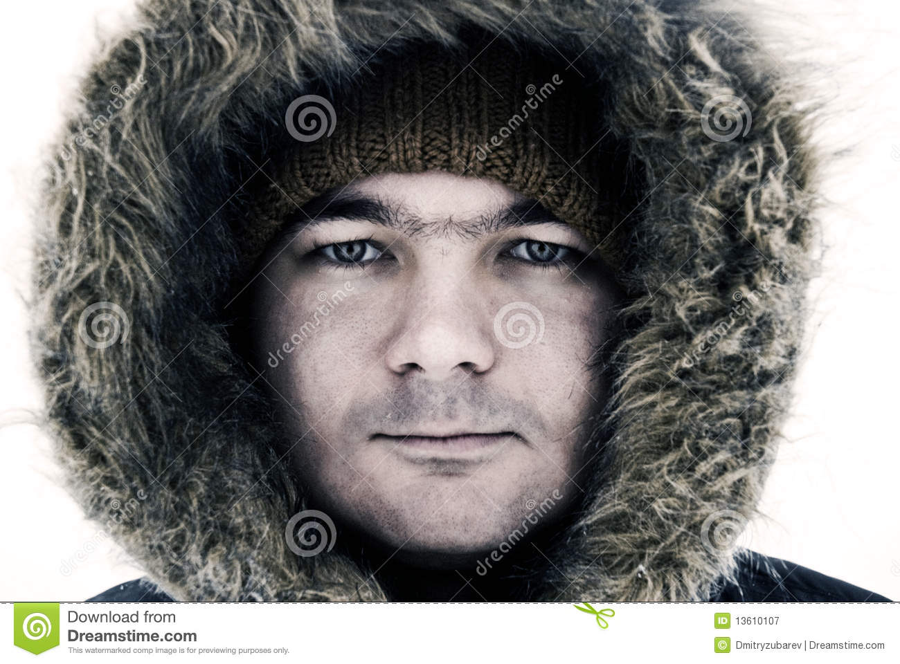 Guy in winter hood