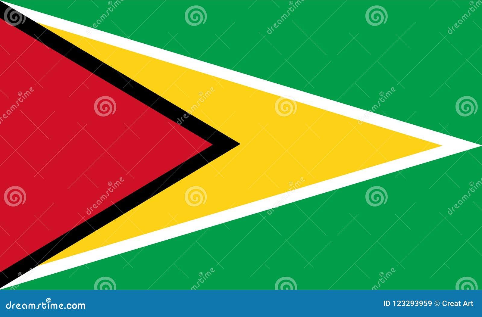 Guyana flaggavektor Illustration av den Guyana flaggan
