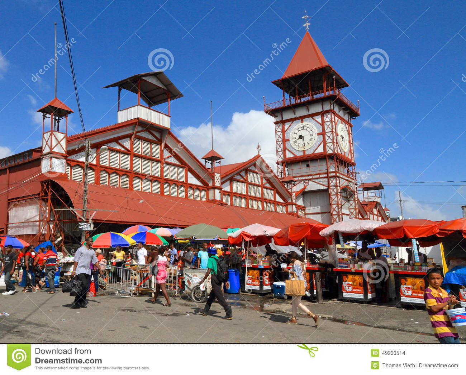 Guyana, Georgetown: Stabroek Market Editorial Stock Image