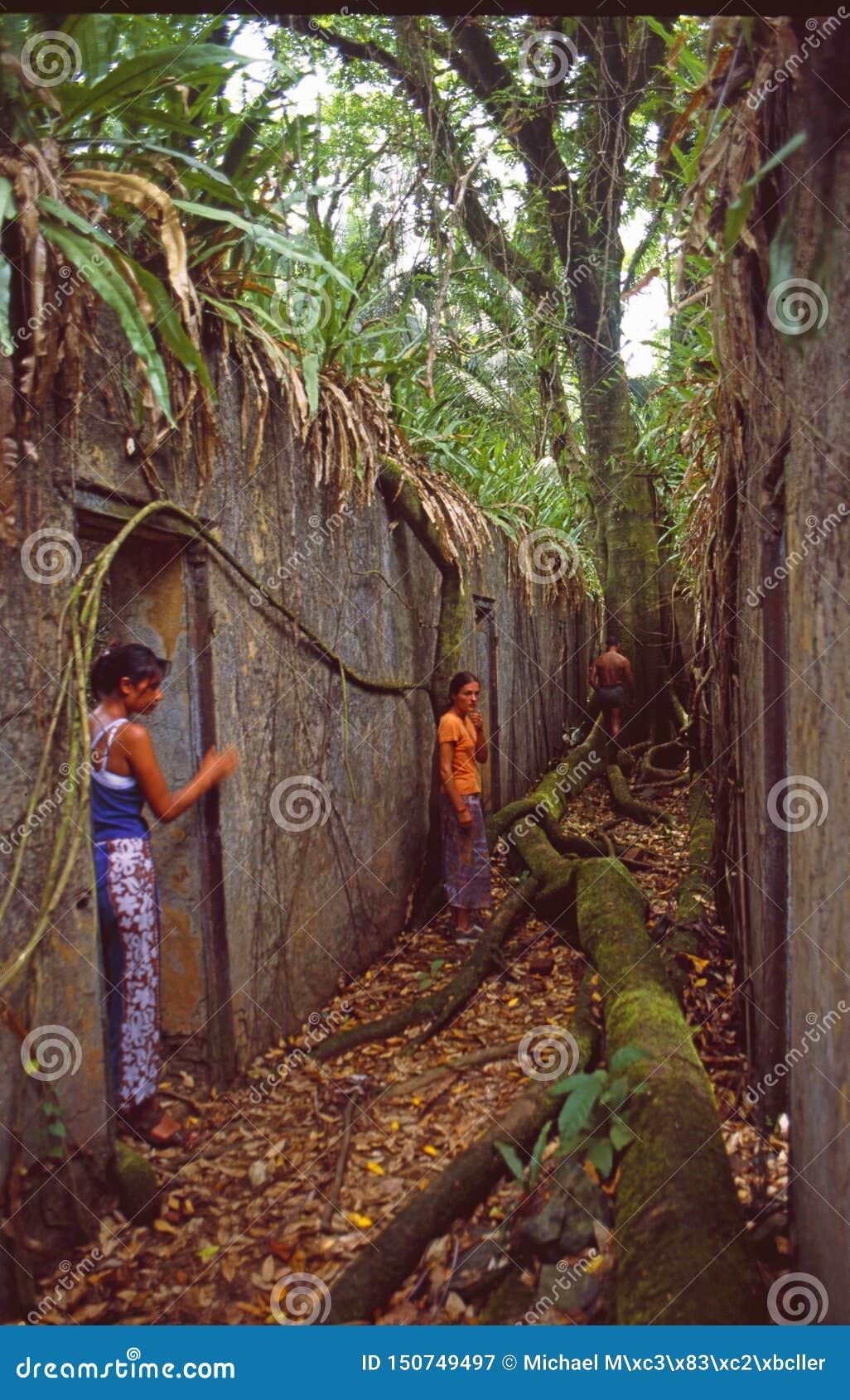 Guyane francés: Cárcel más prisonier política francesa en la isla tropical de los diablos