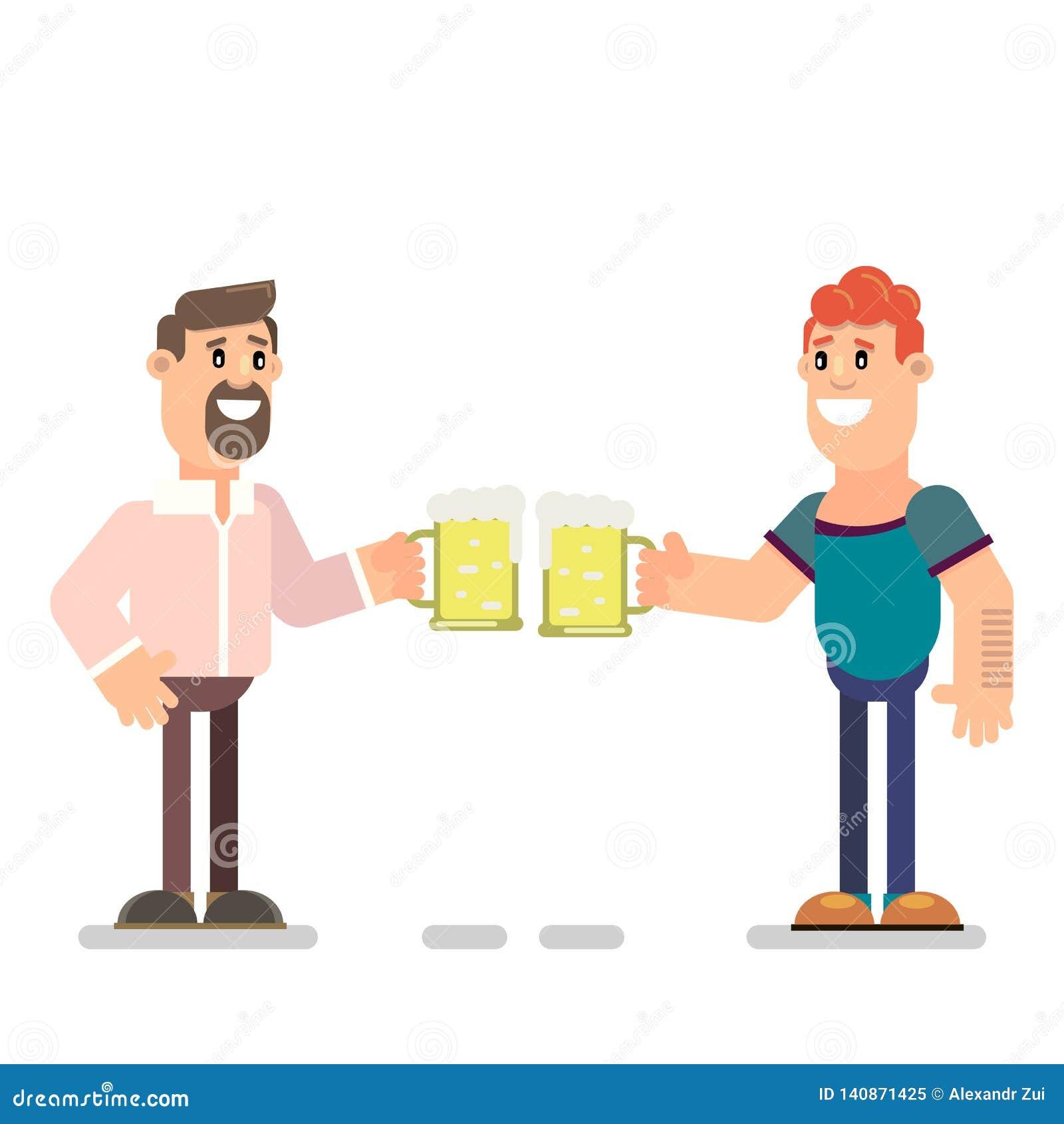 Guys drink beer