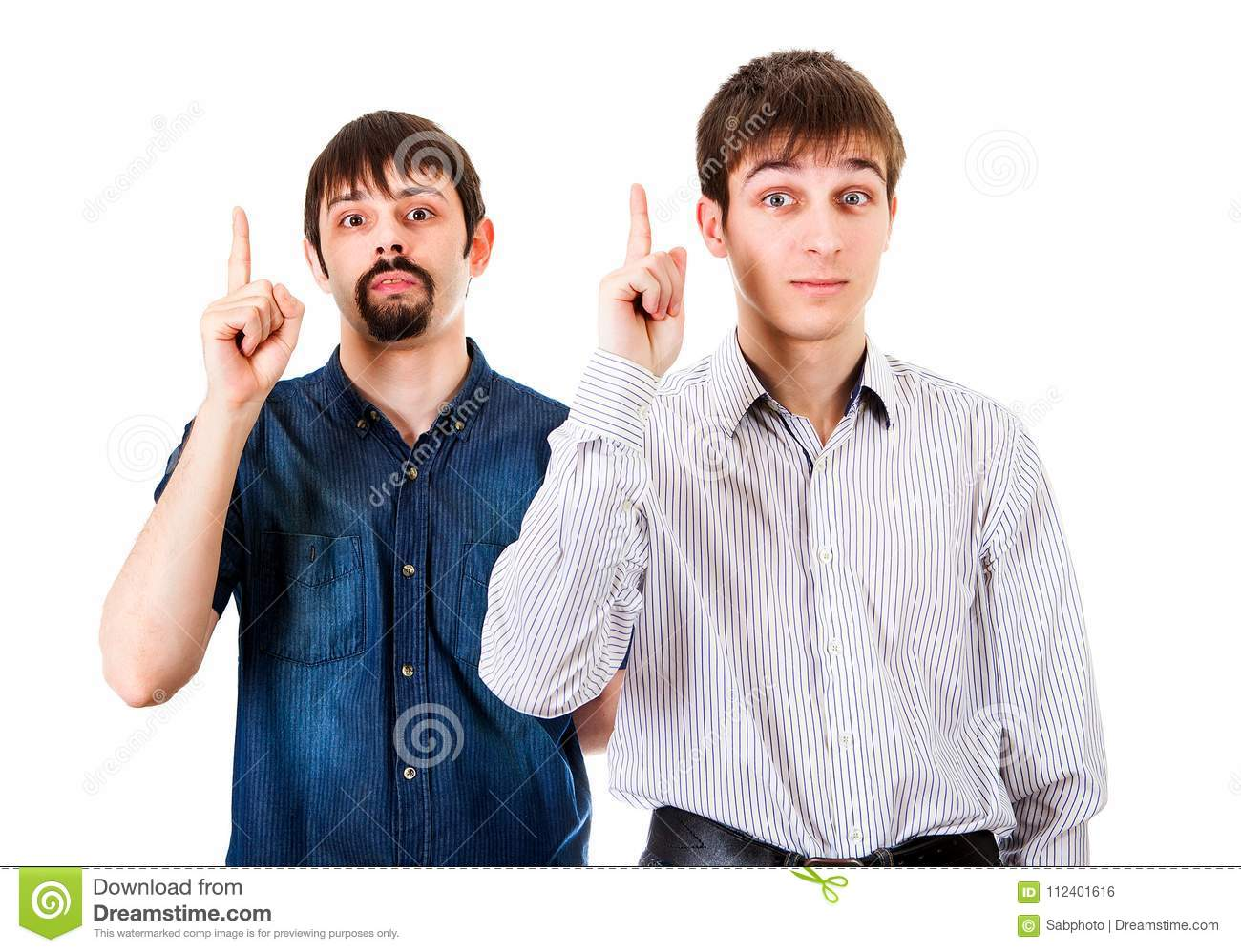 Guys with Finger Up
