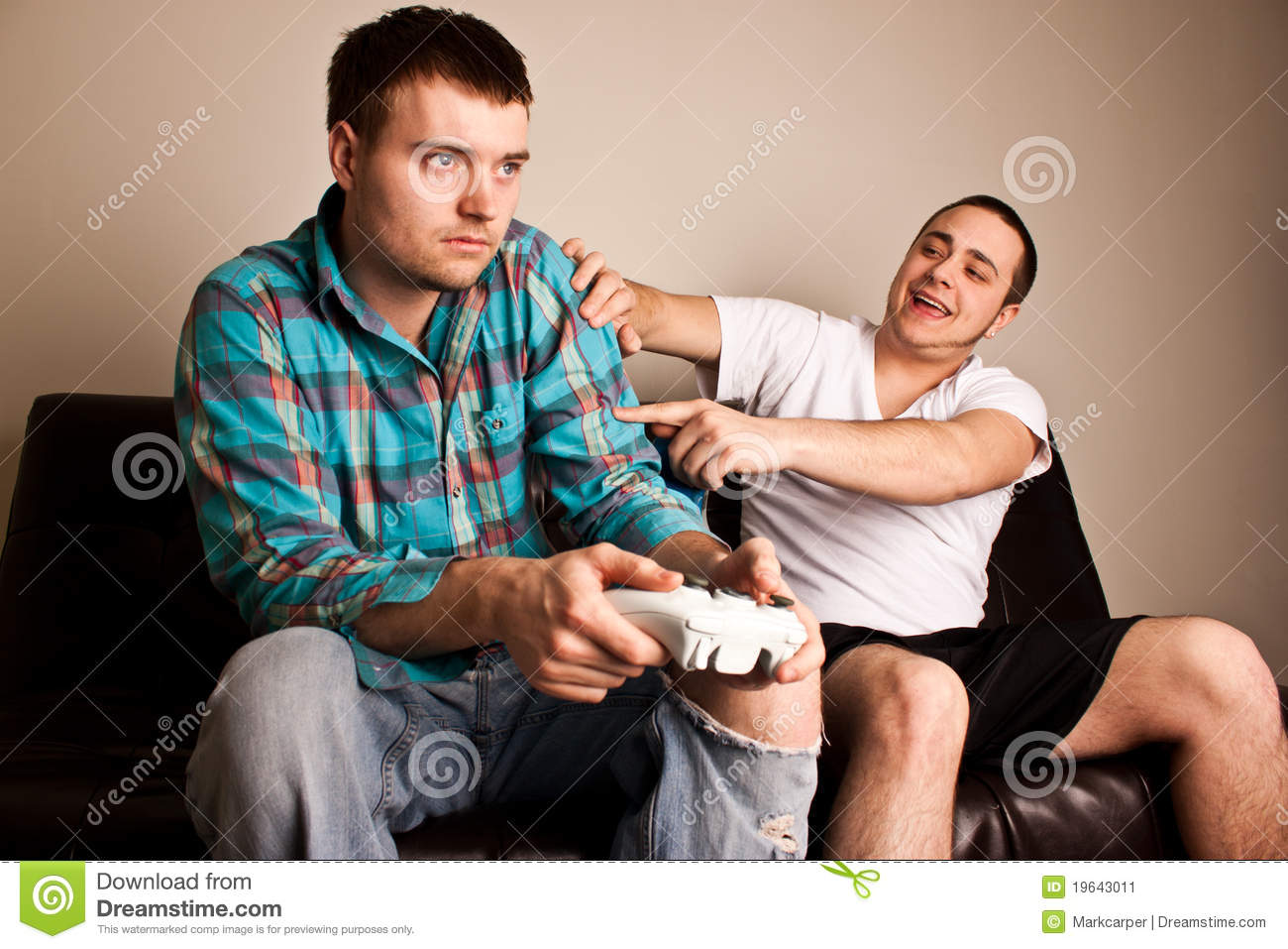 Guys Video Games Lose Stock Image Image 19643011