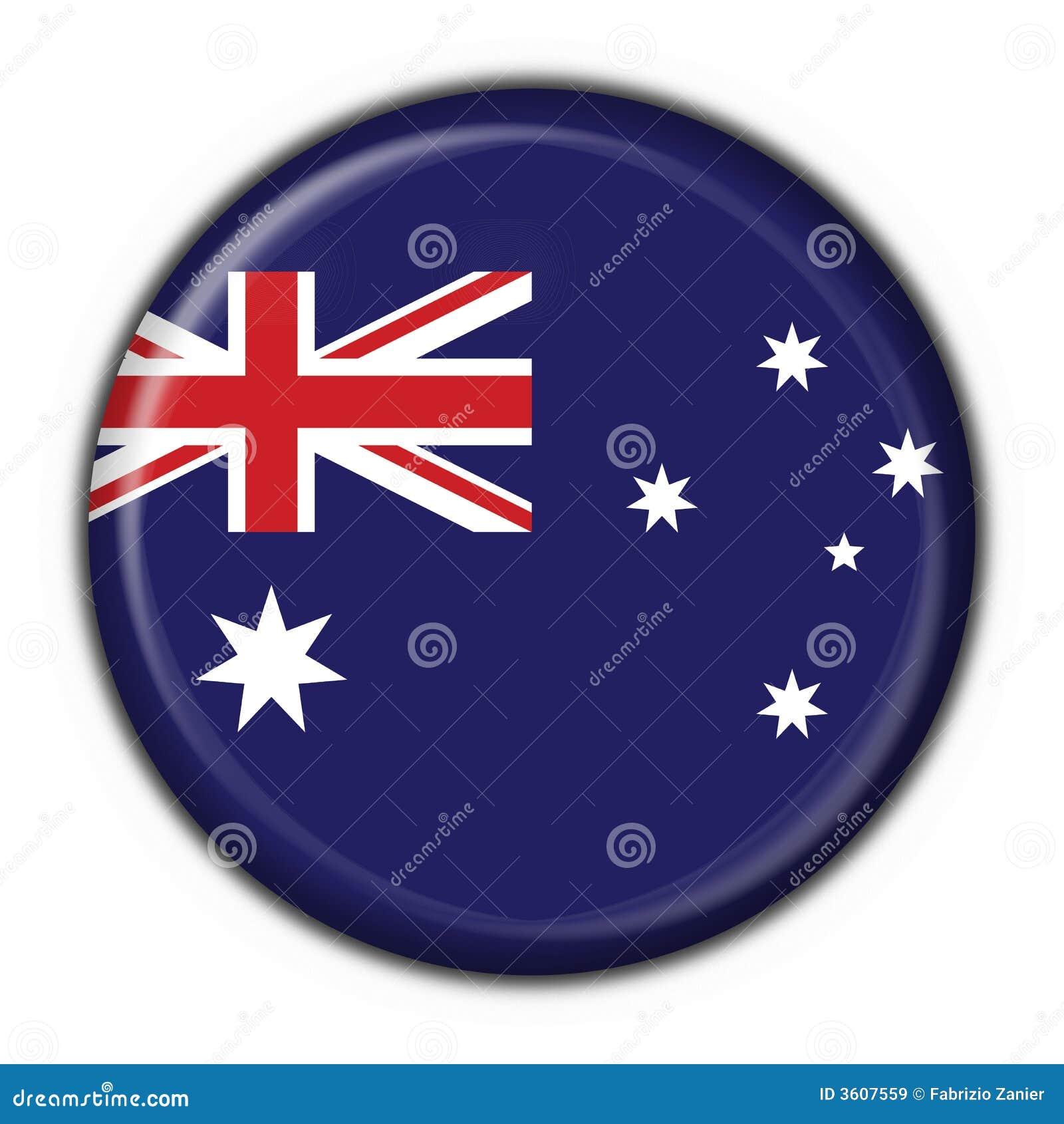Guzik australijskiego serce round