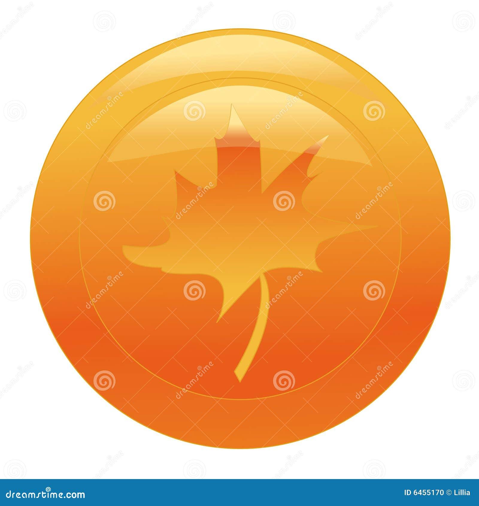 Guzik liści maple pomarańczowa sieci