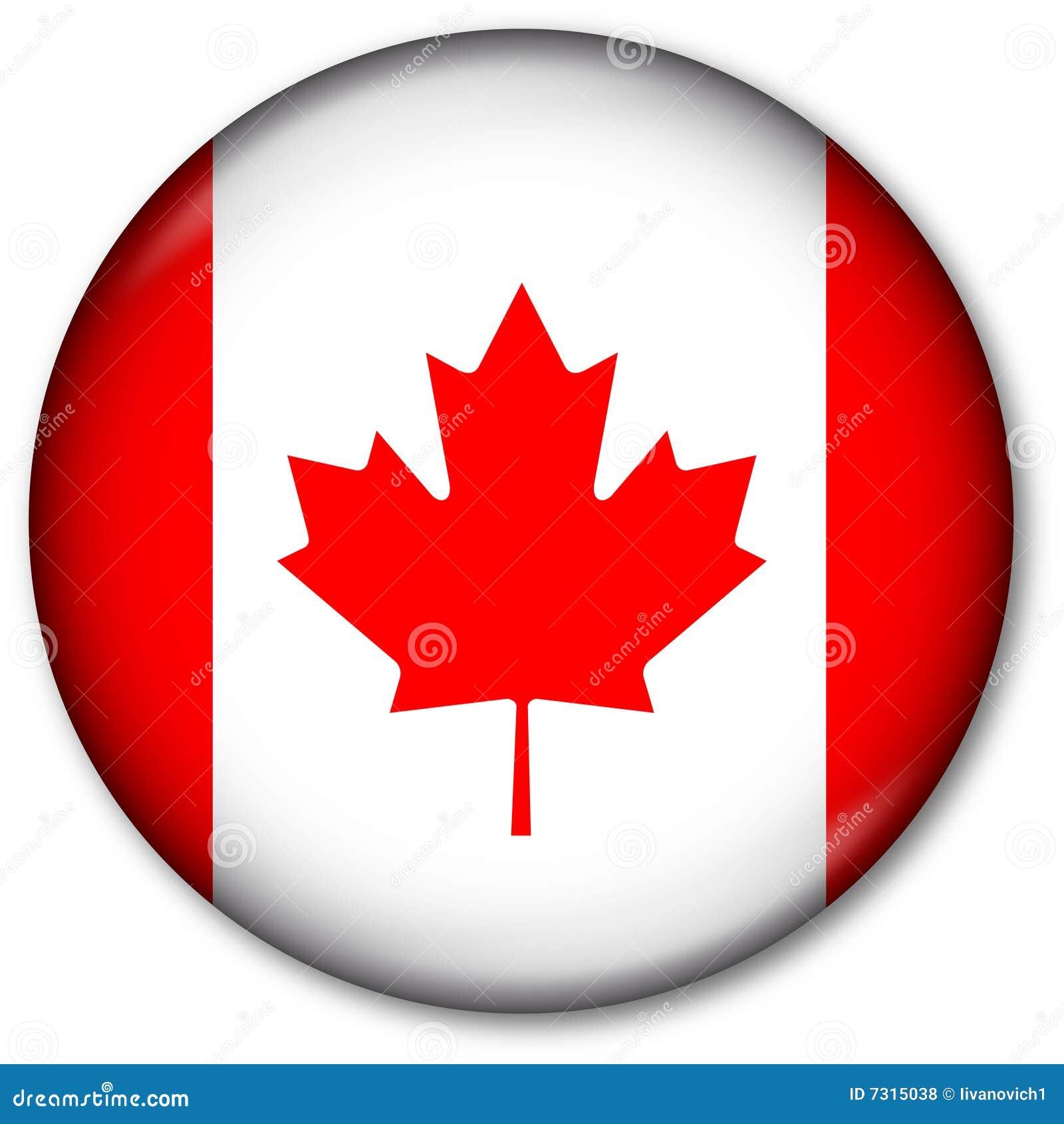 Guzika kanadyjczyka flaga