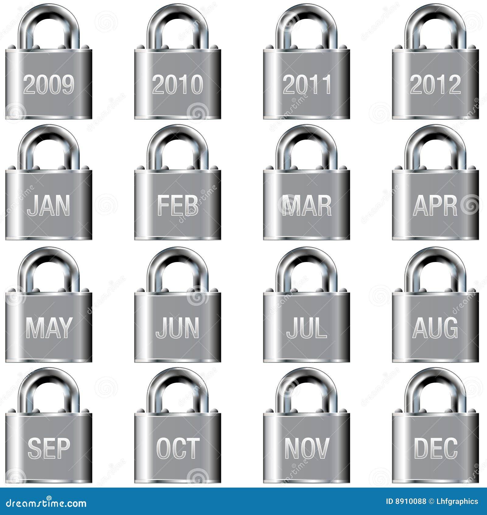 Guziki porządkują ikon kędziorka miesiąc rok