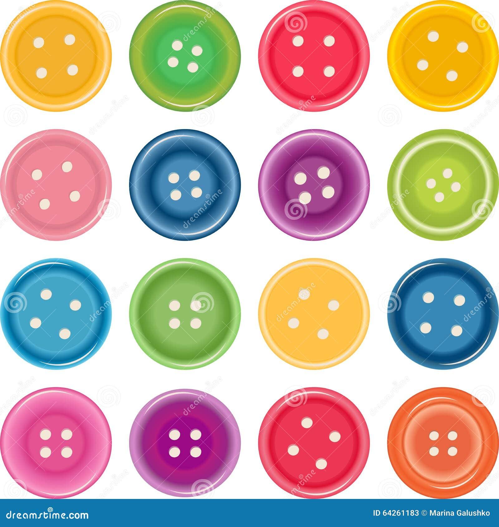 Guziki target4174_1_ koloru ilustraci set