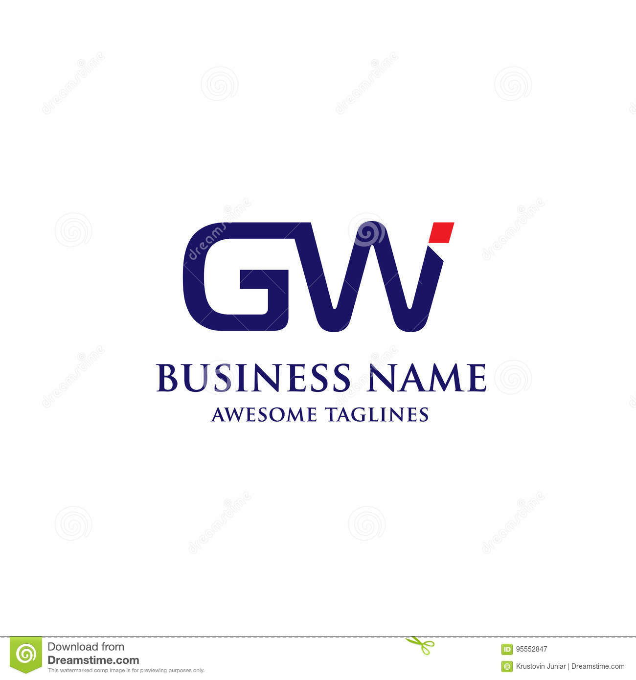 GW letter logo design stock vector. Illustration of communication ... for Logo Design Samples Free Download  76uhy