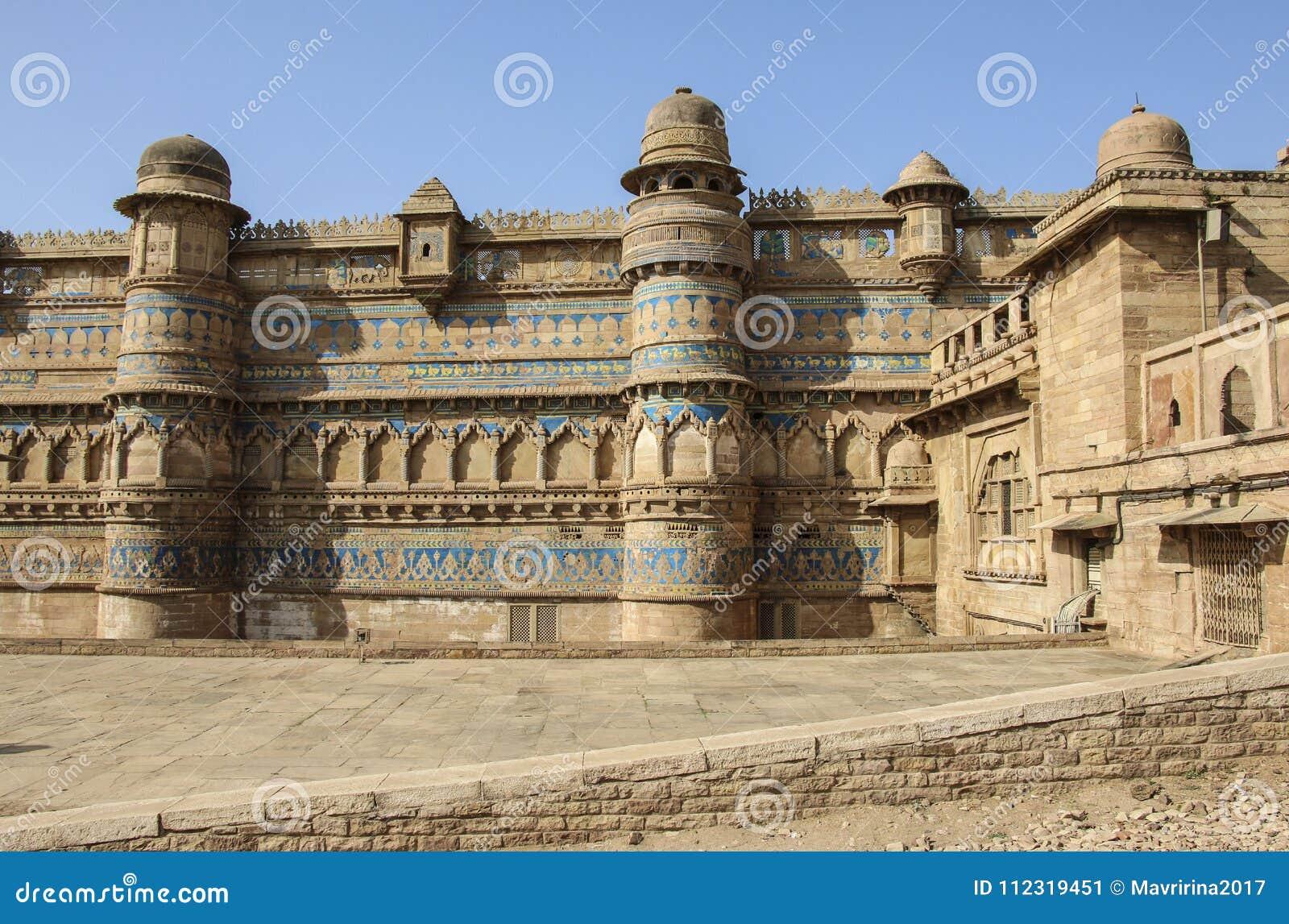 gwalior fort in gwalior mughal architecture madhya pradesh i stock