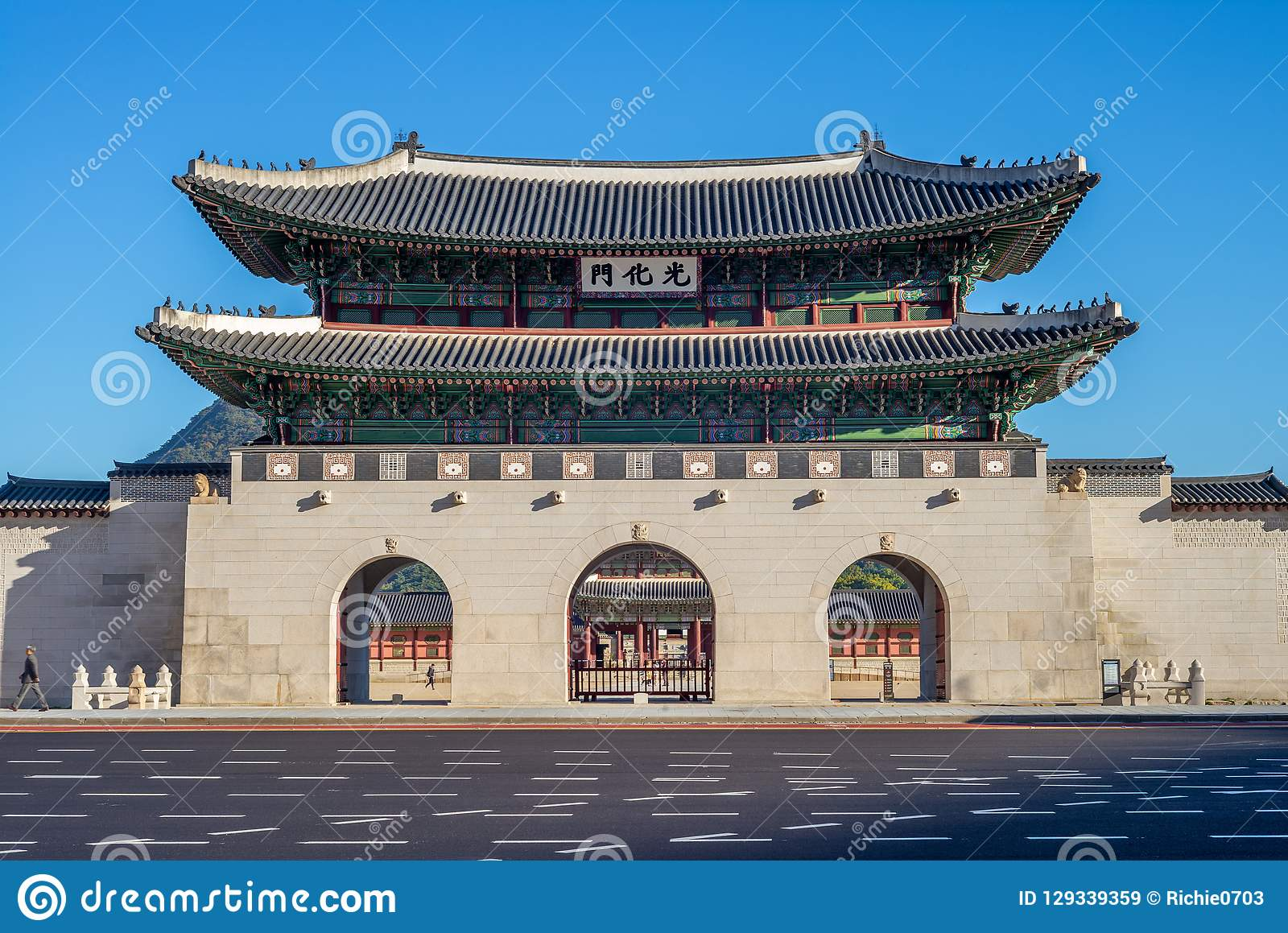 Gwanghwamun, main gate of Gyeongbokgung Palace