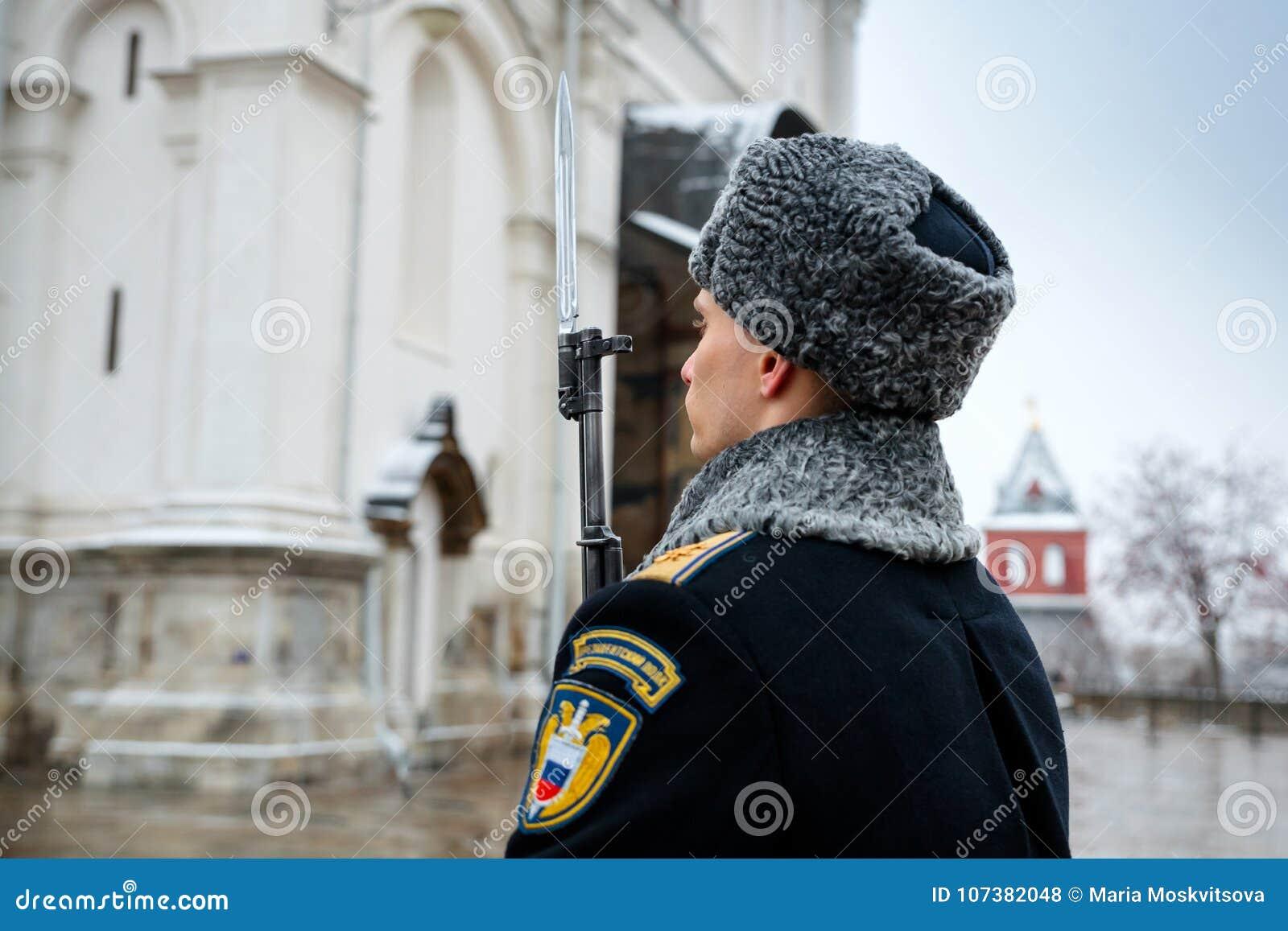 Gwardia honorowa Prezydencki pułk usługa Moskwa Kremlin's Commandant