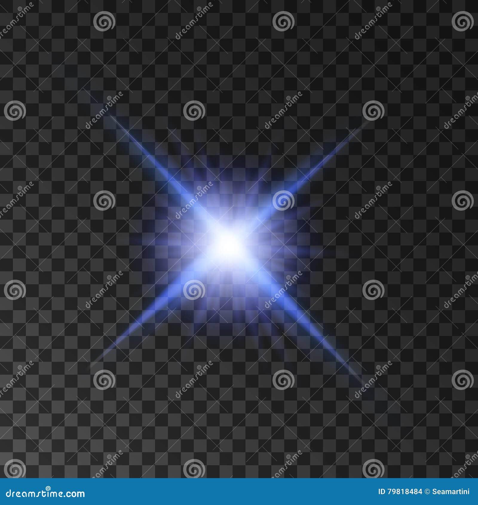 Gwiazdowy lekki połysk Światła reflektorów jaśnienia promienie