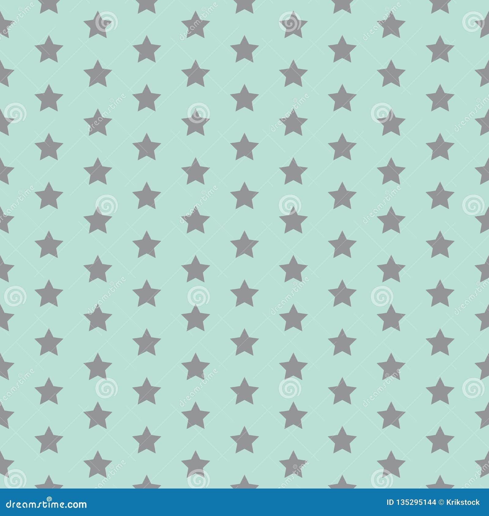 Gwiazdowy wzór Śmieszny druk dziecka tła kopii przestrzeni tekst Wektorowa ilustracja z małymi gwiazdami Prosty dzieciaka projekt