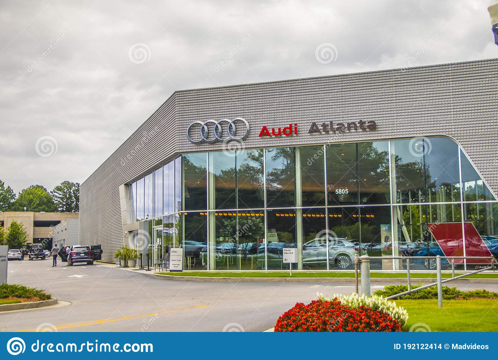View Of The Audi Atlanta Dealership On Buford Hwy Editorial Stock ...