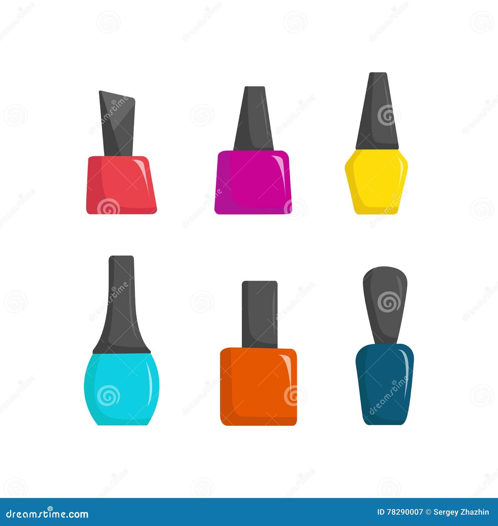 Gwoździa połysku kolorowi słoje, piękno salonu kreskówki wektoru ilustracja