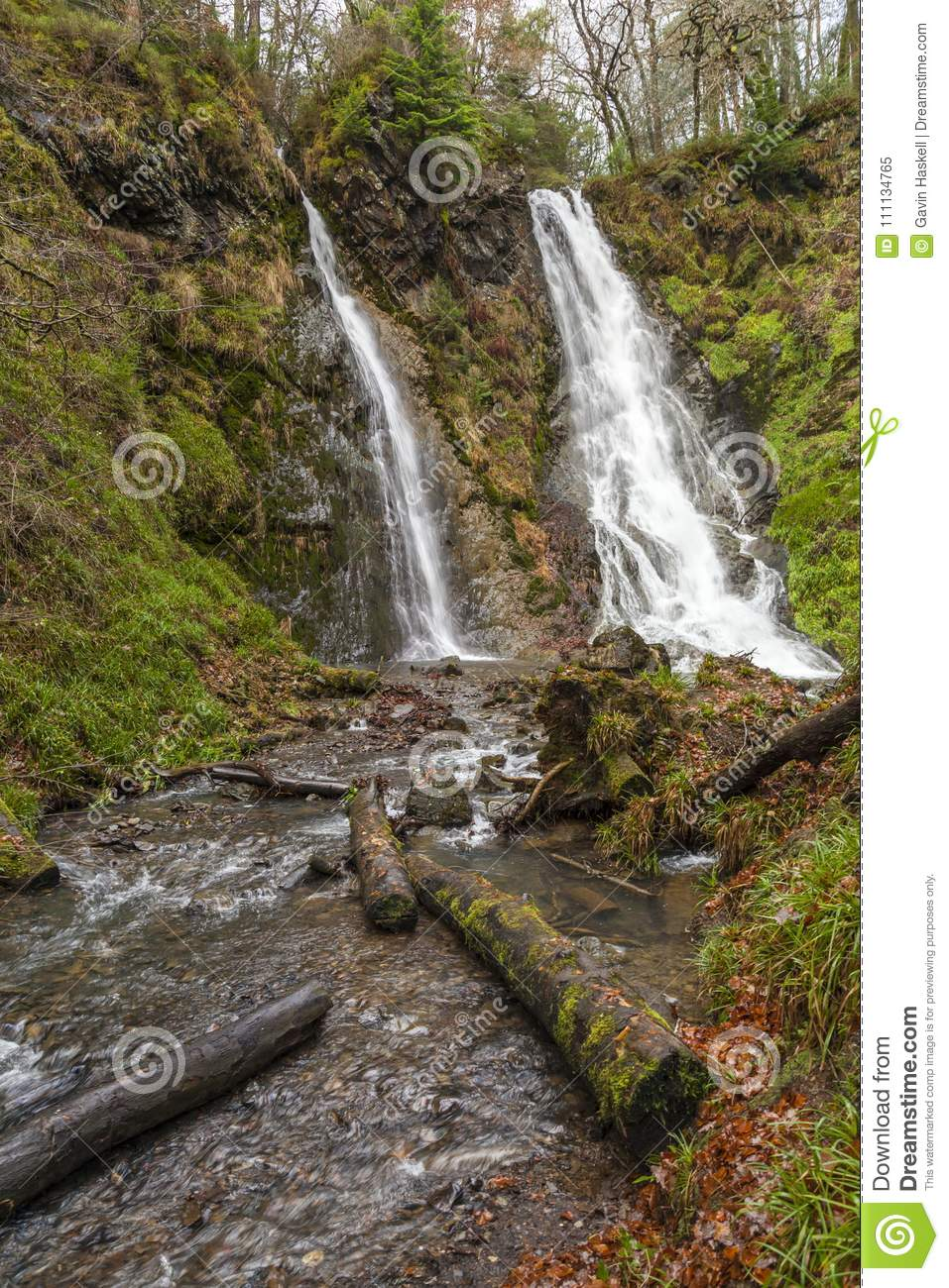 Gwydyr Forest Waterfall stock image  Image of wales - 111134765
