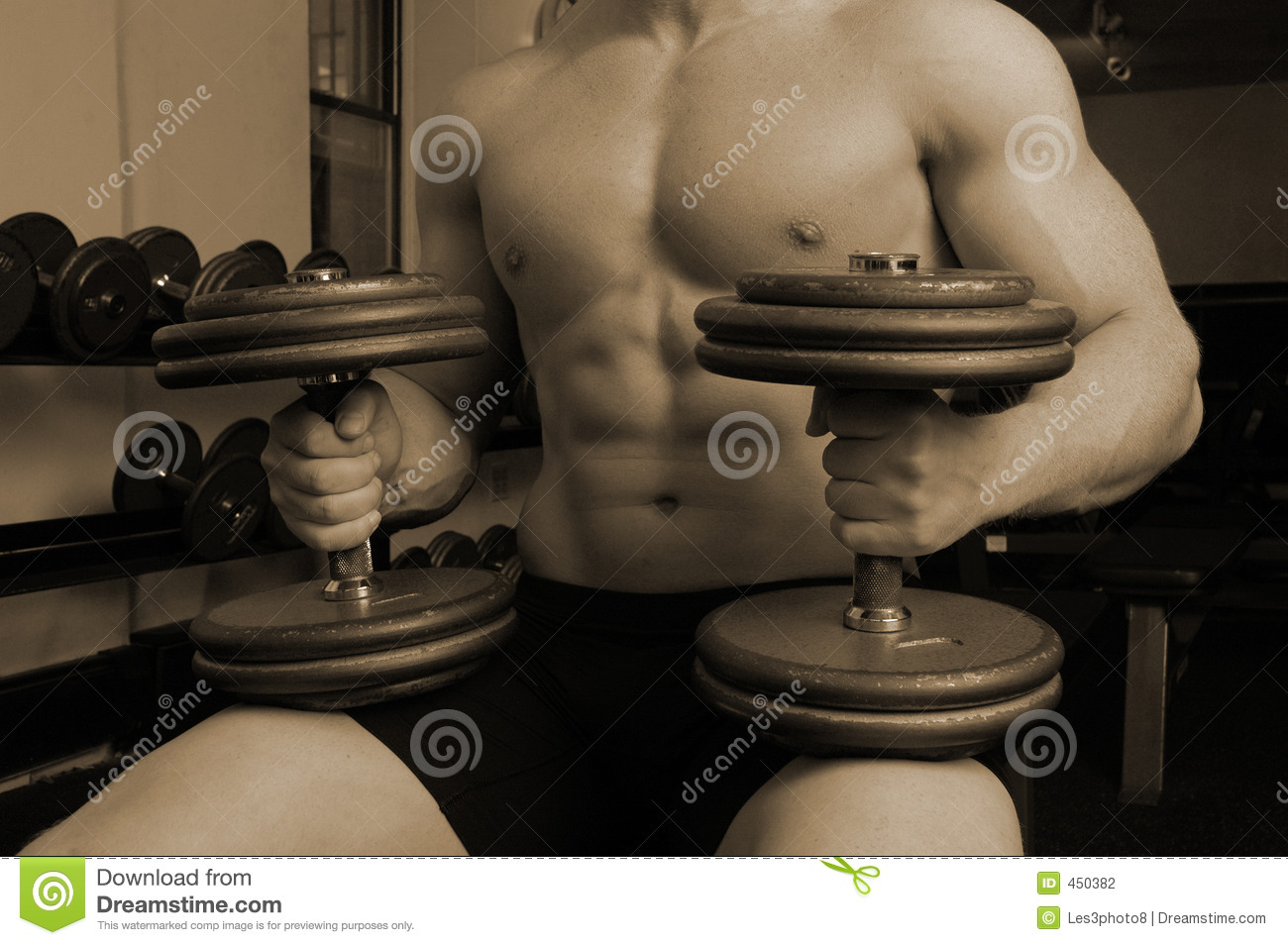 Download In the gym stock photo. Image of mono, muscle, buff, heavy - 450382