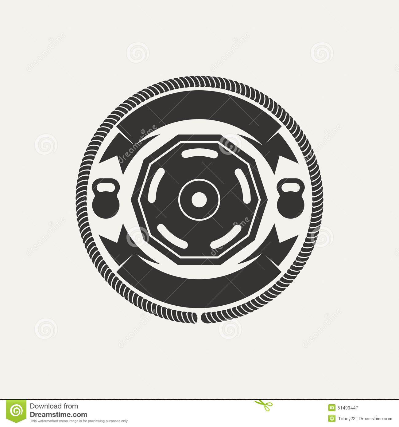 GYM Athletic Logo Stock Vector - Image: 51499447