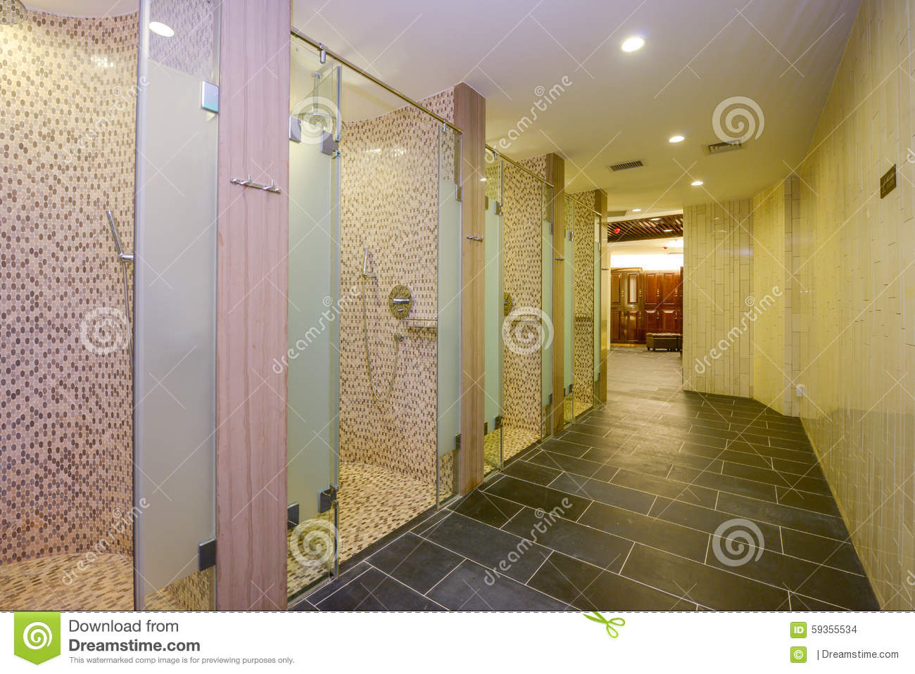 Gym bathroom stock photo. image of architecture container 59355534