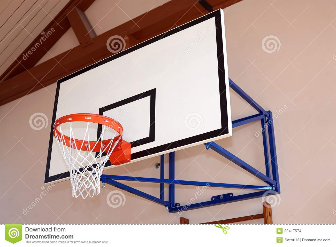 Gym Building With Basketball Hoop Stock Images Image