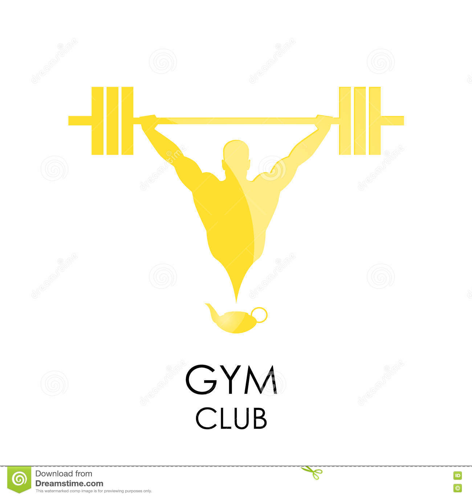 Gym club logotype sport fitness creative concept stock for Gimnasio fitness club