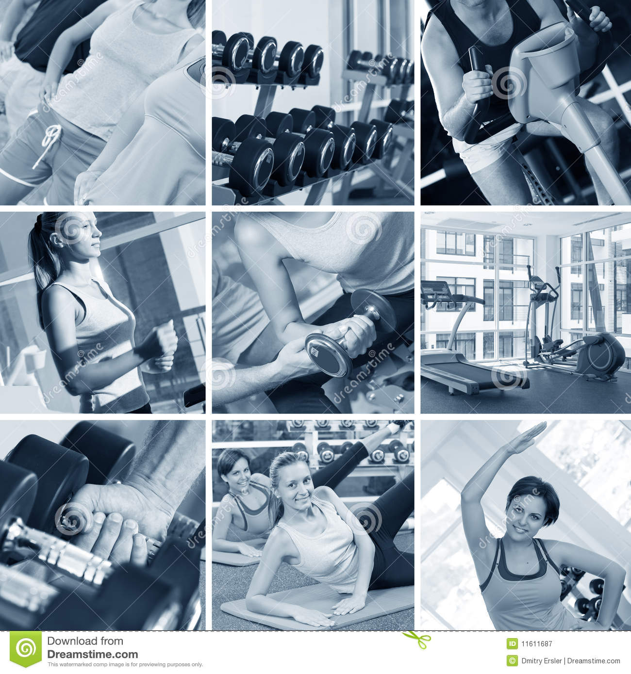 Gym Collage Royalty Free Stock Photography - Image: 11611687