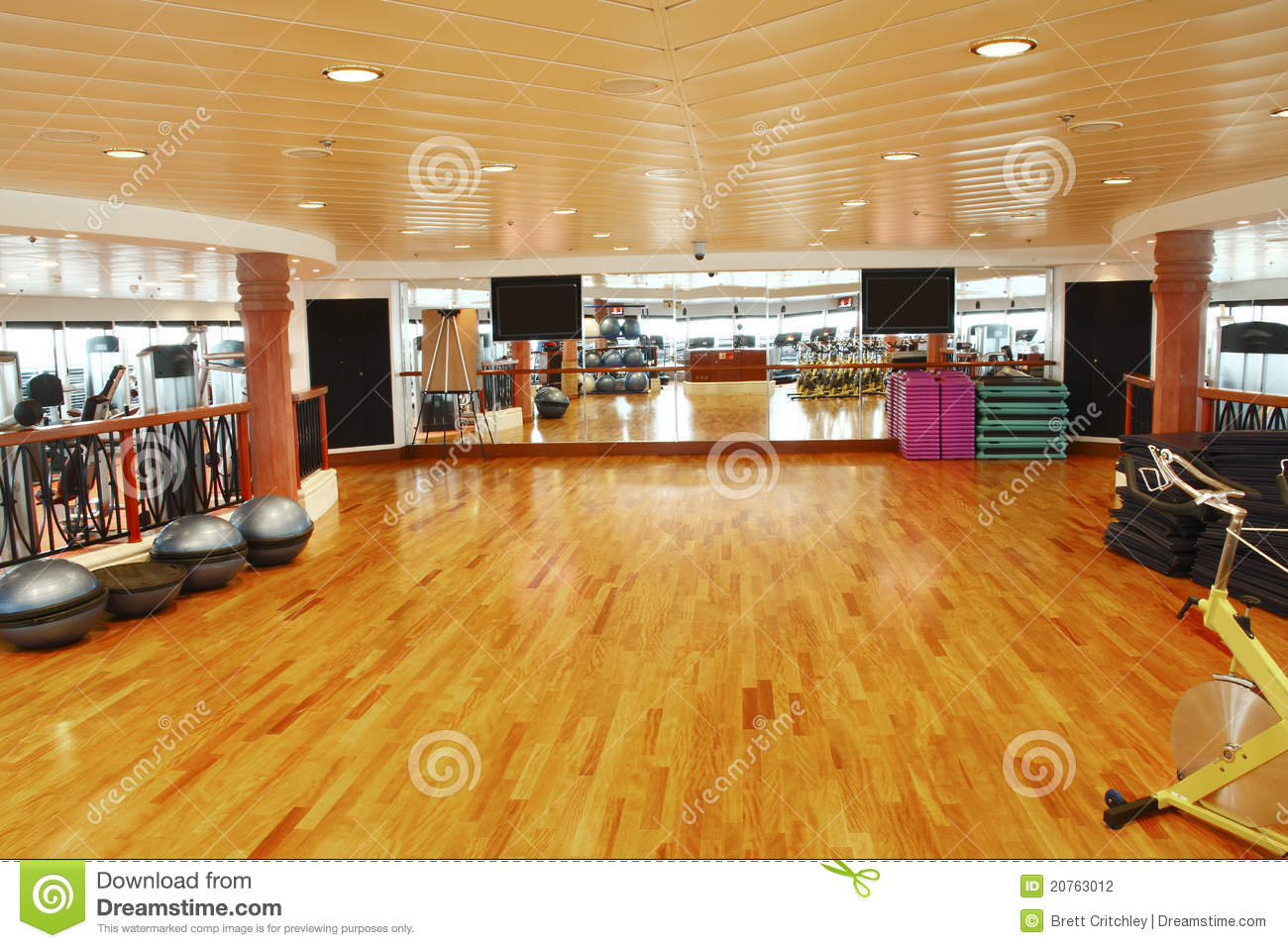 Gym Dance Studio Stock Photo Image Of Healthy Workouts