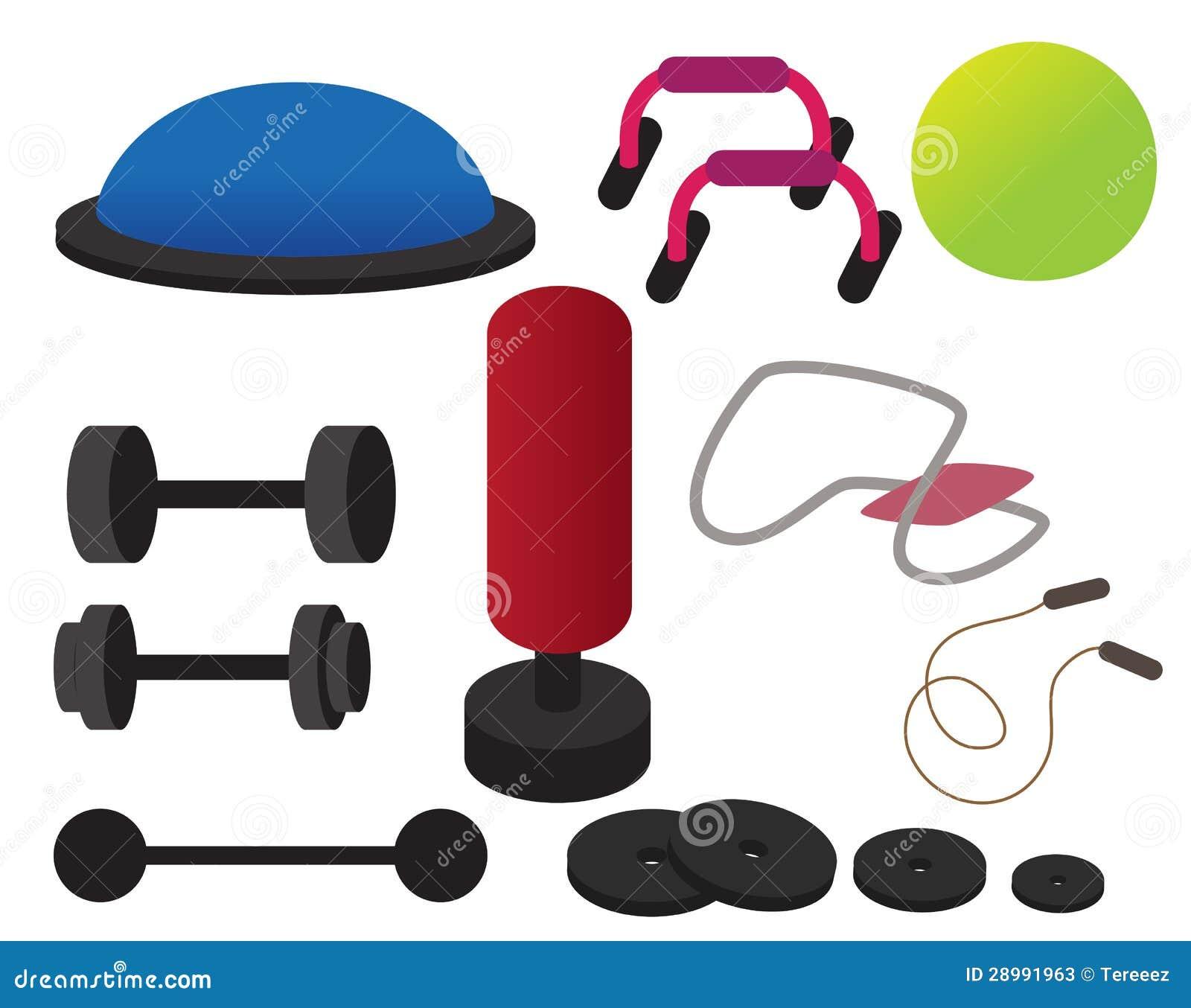 Gym Equipment Stock Vector Illustration Of Barbell Diet 28991963