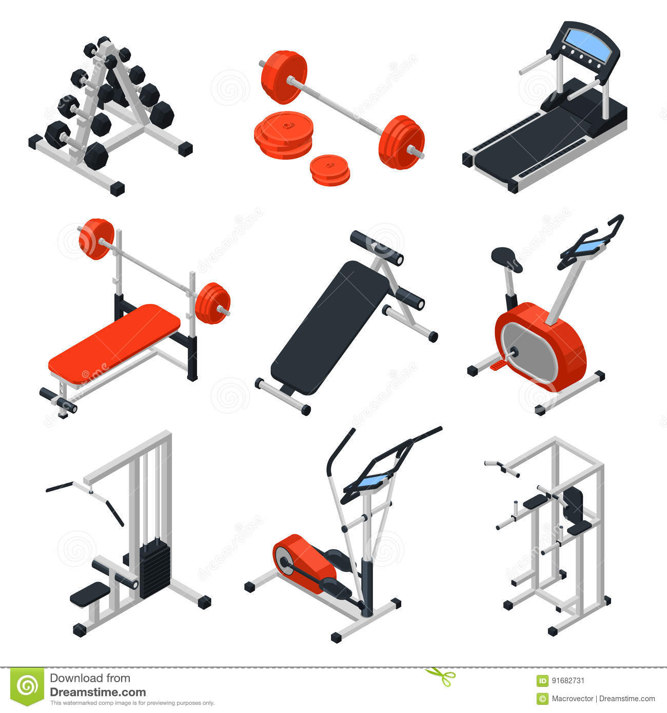 Isometric Exercises Equipment: Crossfit Cartoons, Illustrations & Vector Stock Images