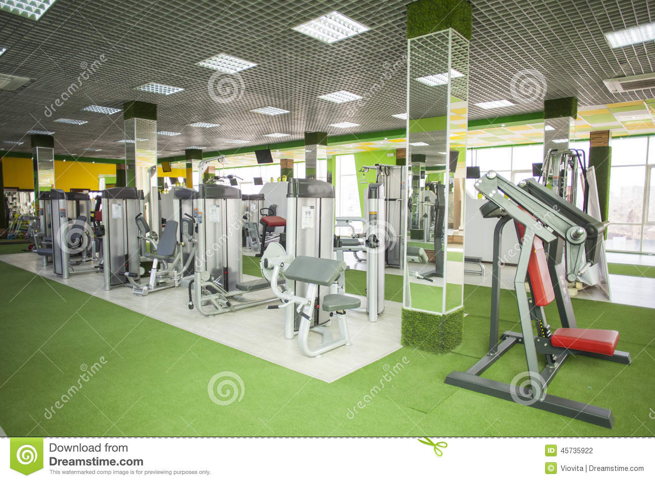 Gym equipment room stock photo image