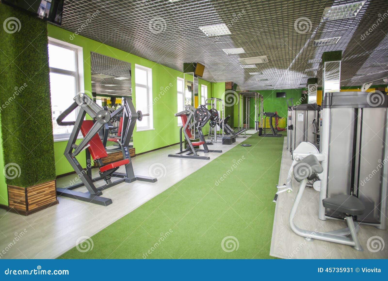 Gym equipment room stock photo image