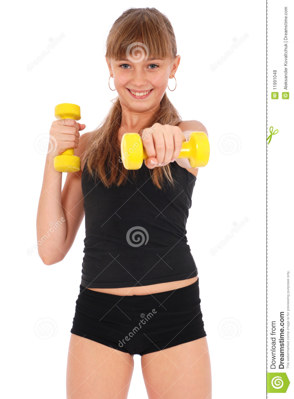 Fitness girl and boy