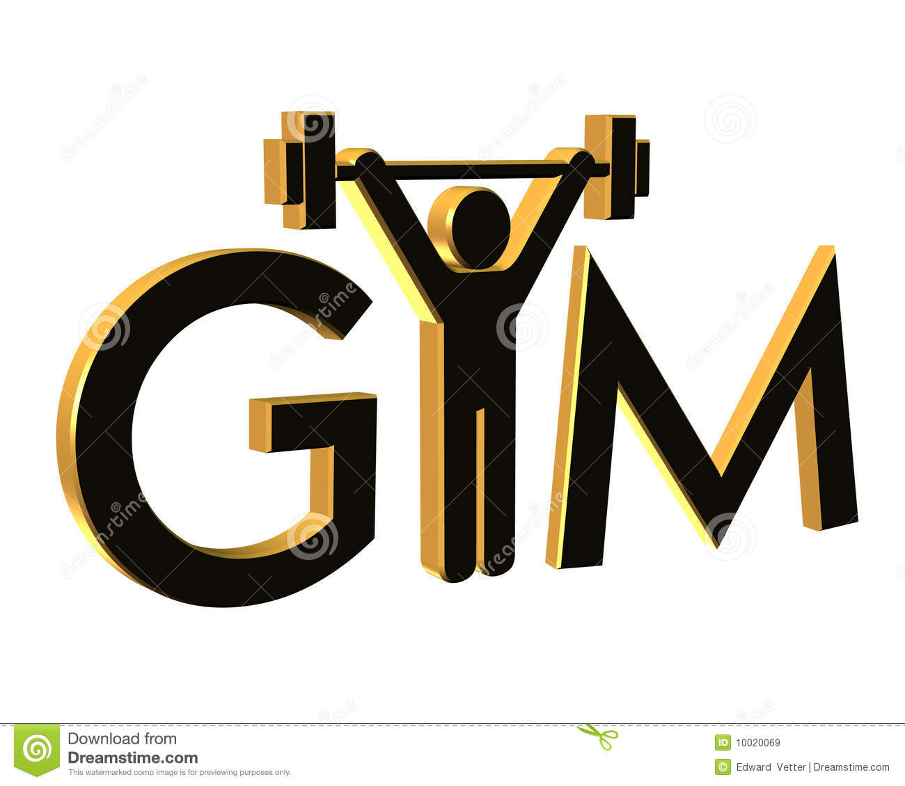 Gym Fitness Logo 3D Isolated Stock Illustration - Illustration of ... for Gym Logo Pictures  183qdu