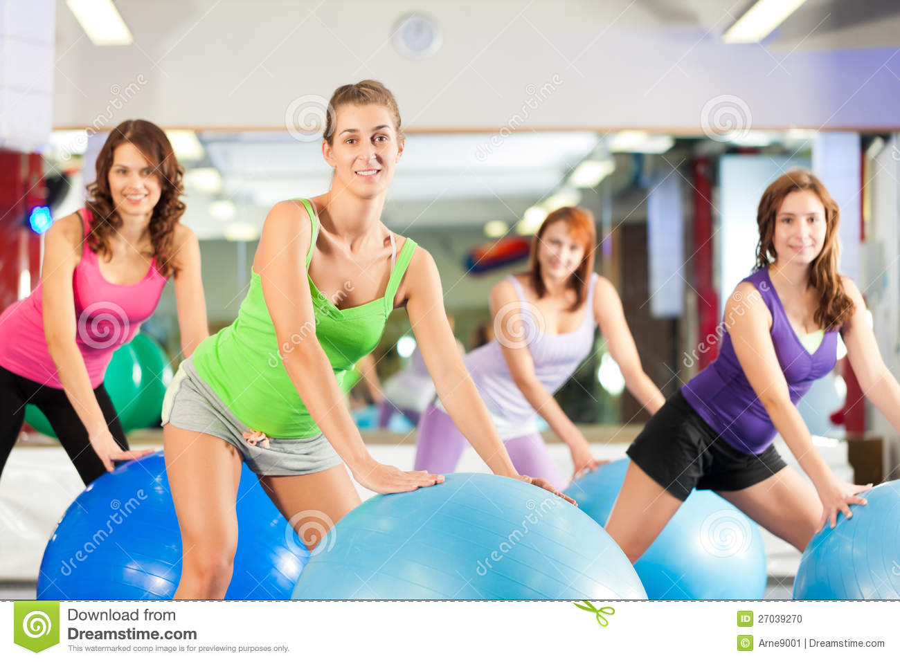 Gym fitness women training and workout stock photo for Fitness gym