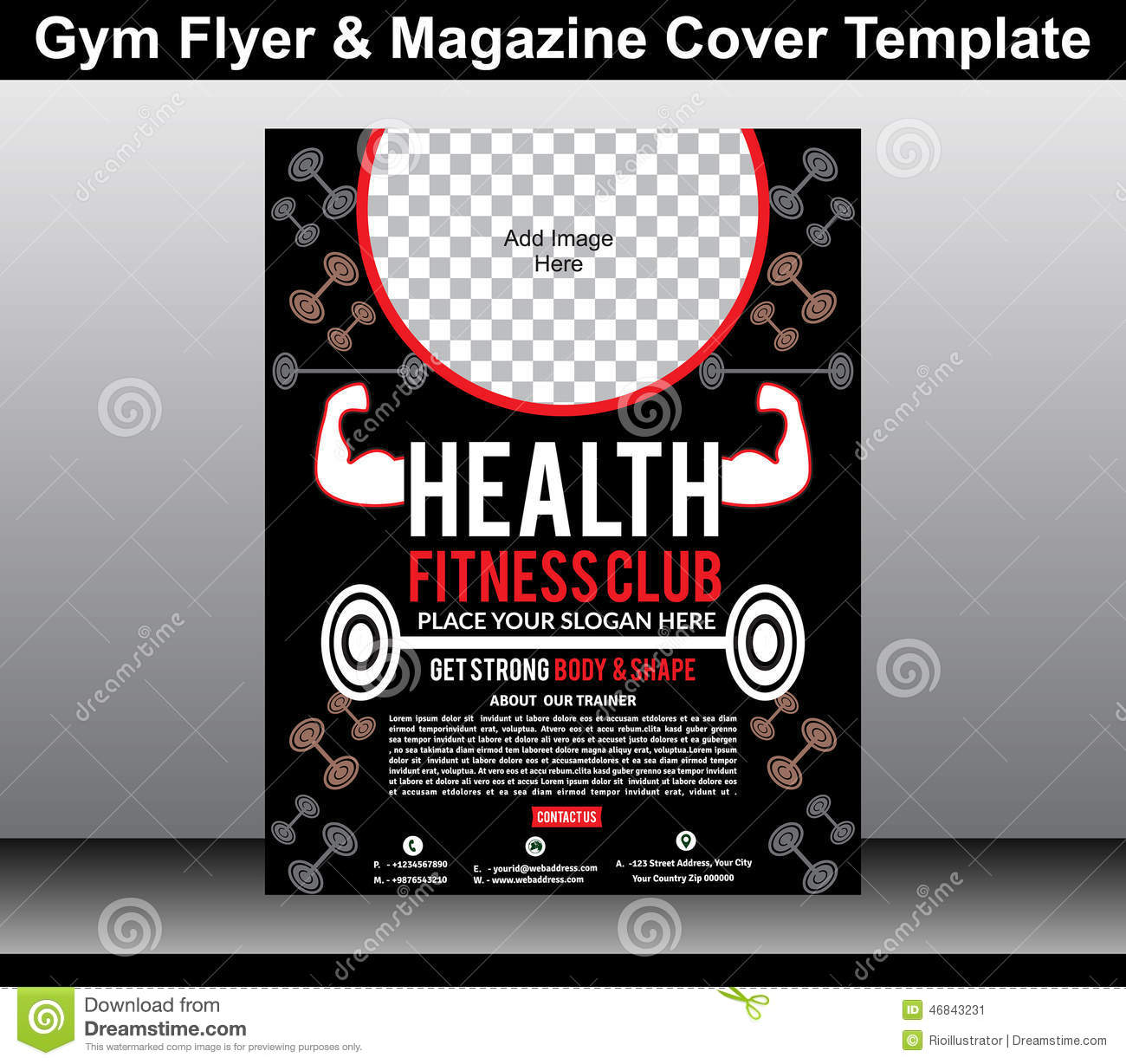 fitness poster template - shefftunes.tk