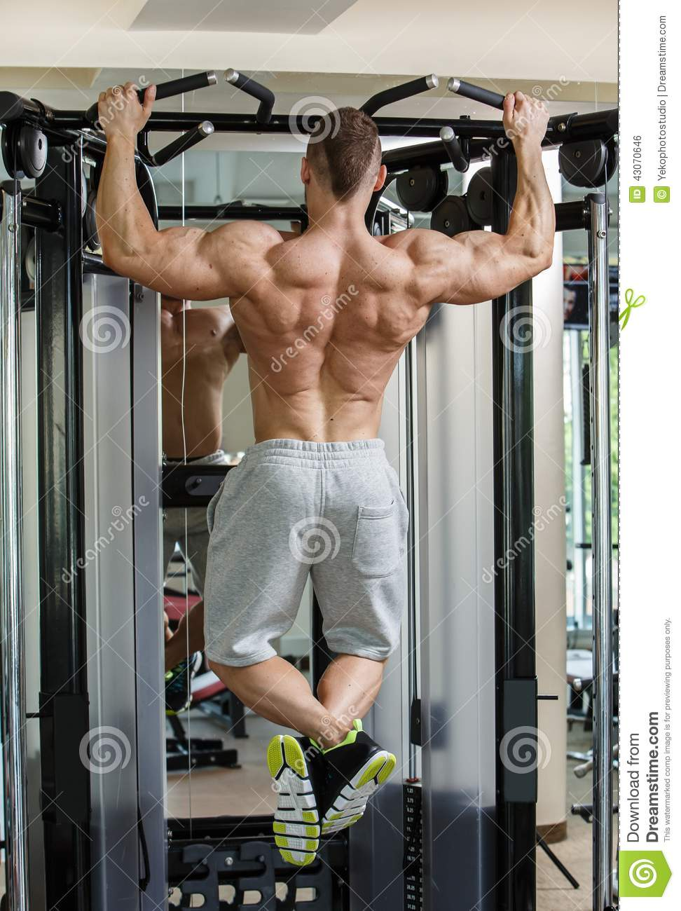 Gym. Handsome Man During Workout Stock Photo - Image: 43070646