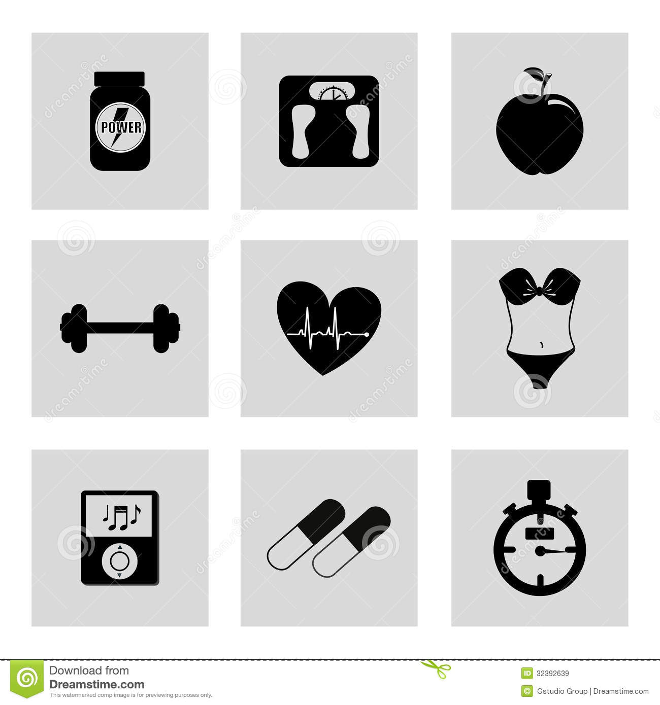 Gym icons stock vector image of life move energy icon