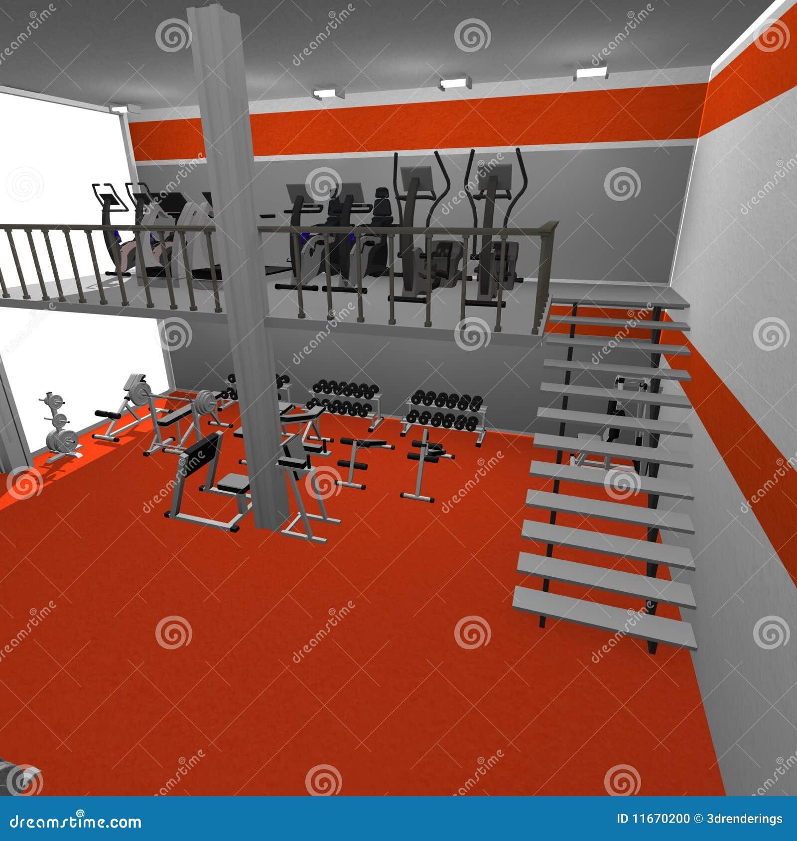 Gym interior stock illustration  Illustration of bodybuilding - 11670200
