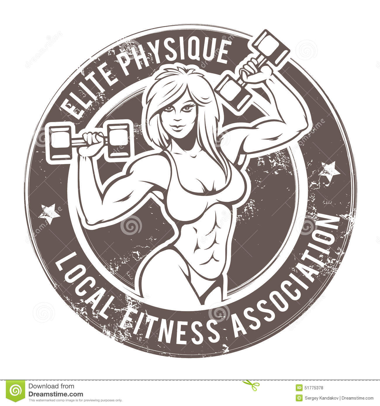 Gym Lady Vector Stock Vector - Image: 51775378