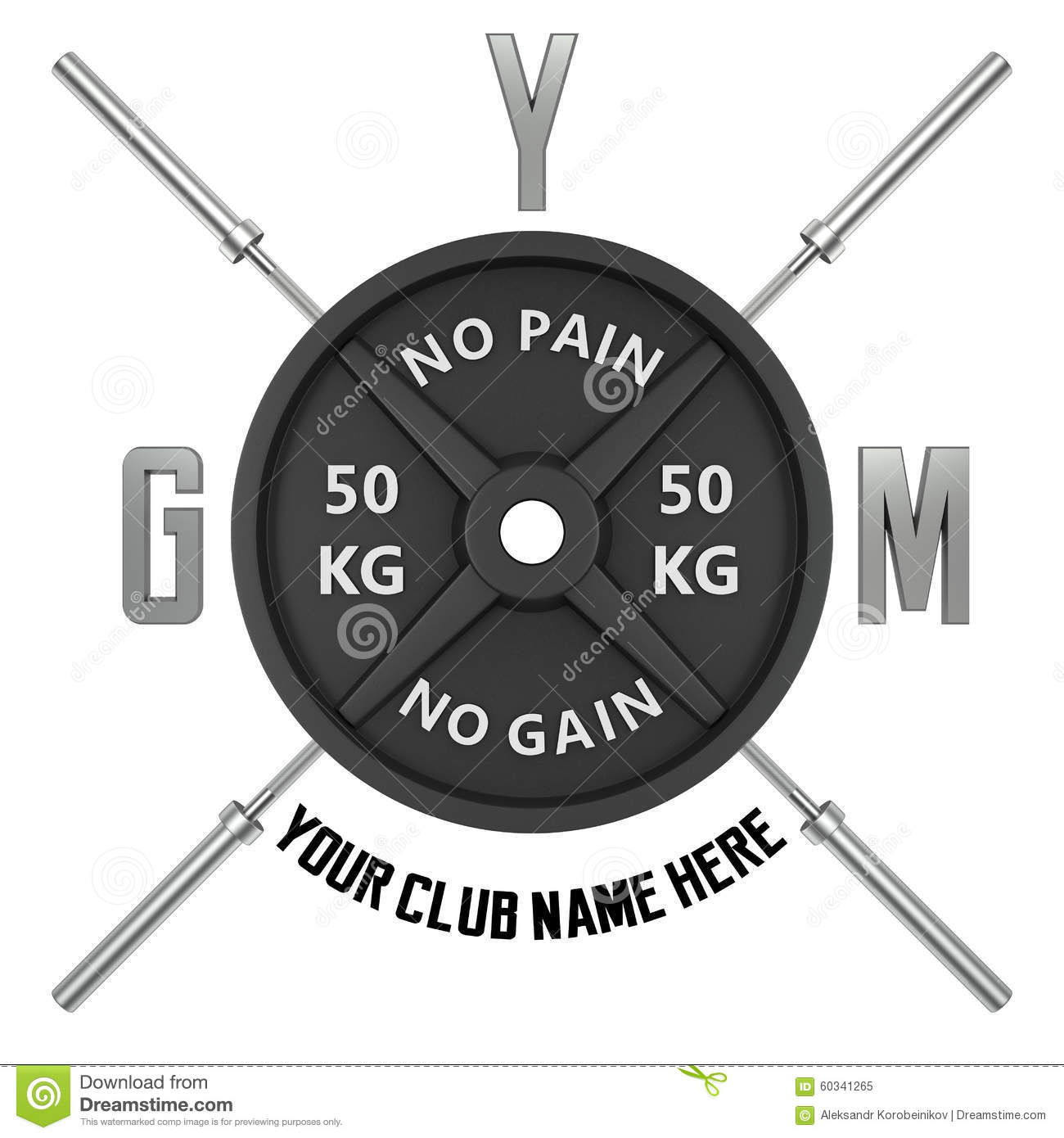 Gym Logo In 3d Style. Stock Illustration - Image: 60341265