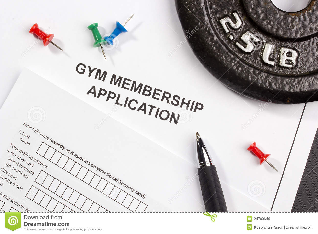 Gym Membership Application Royalty Free Stock Images ...