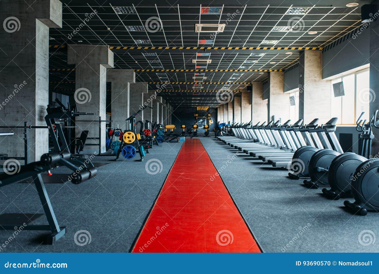 Gym nobody, empty fitness club