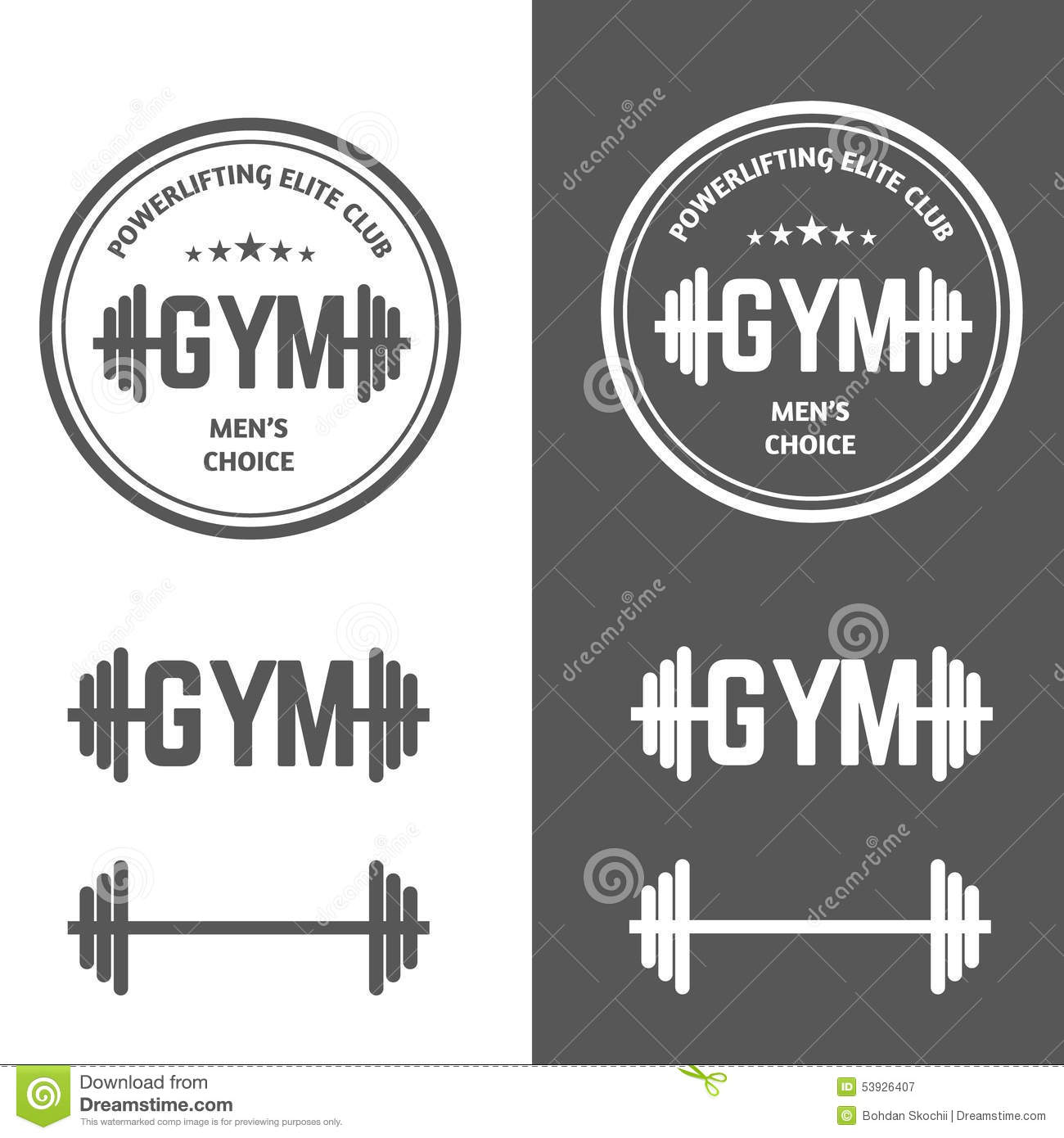 Gym Powerlifting Stock Vector - Image: 53926407
