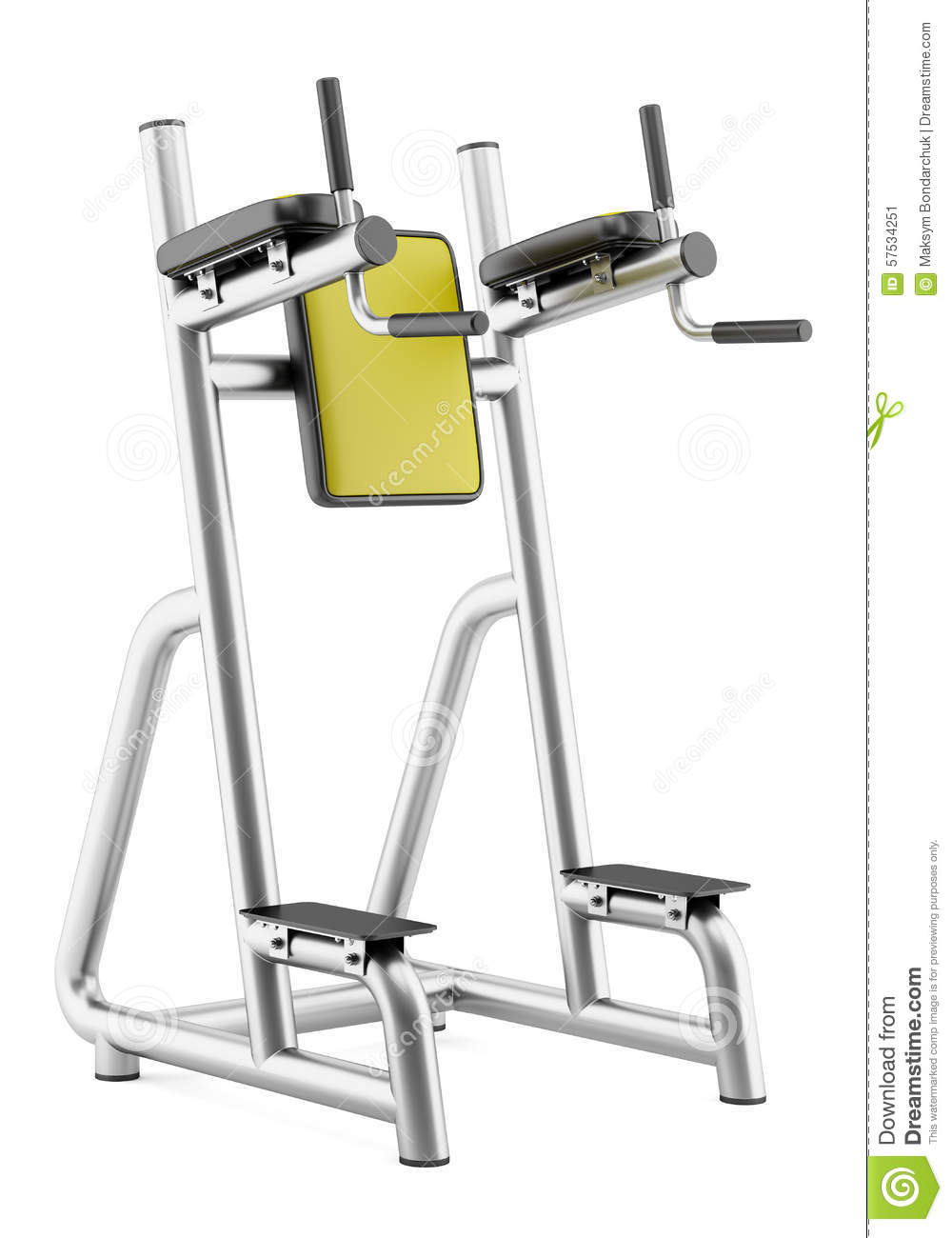Gym roman chair isolated on white background