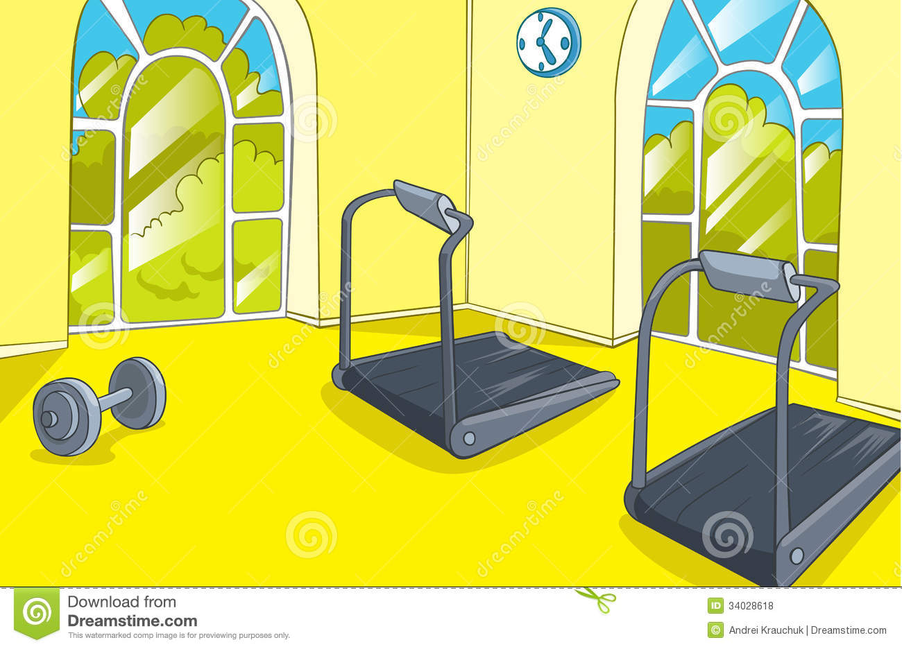 gym room stock vector illustration of power clip build 34028618. Black Bedroom Furniture Sets. Home Design Ideas