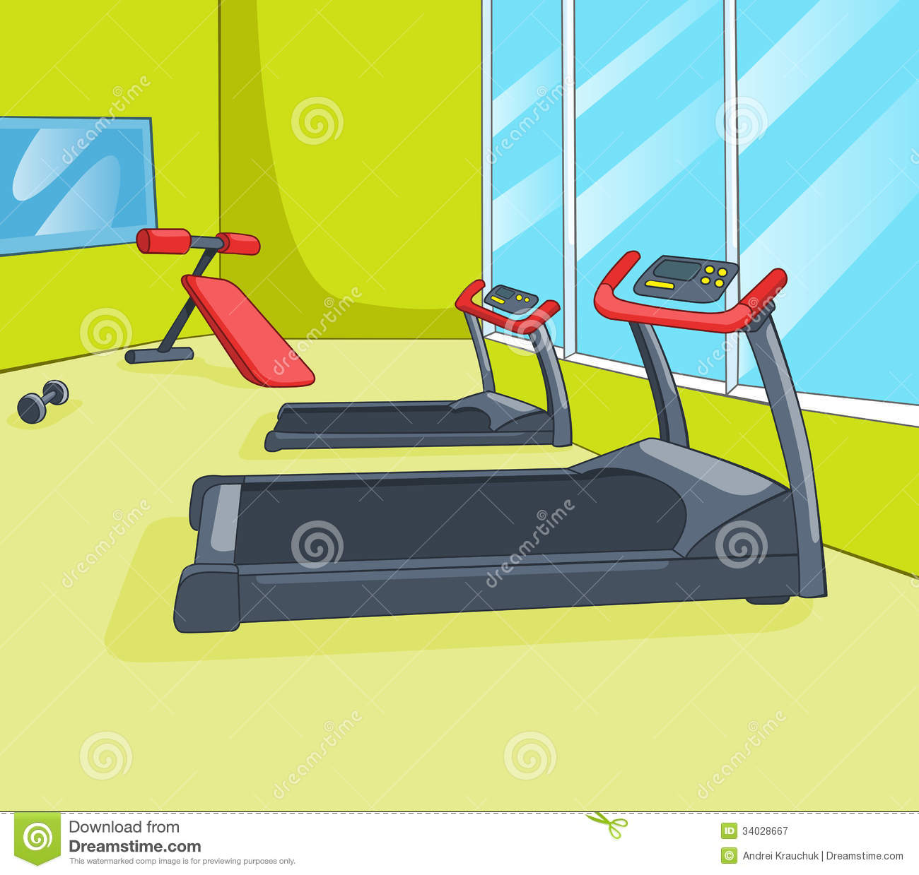 Gym room royalty free stock photography image