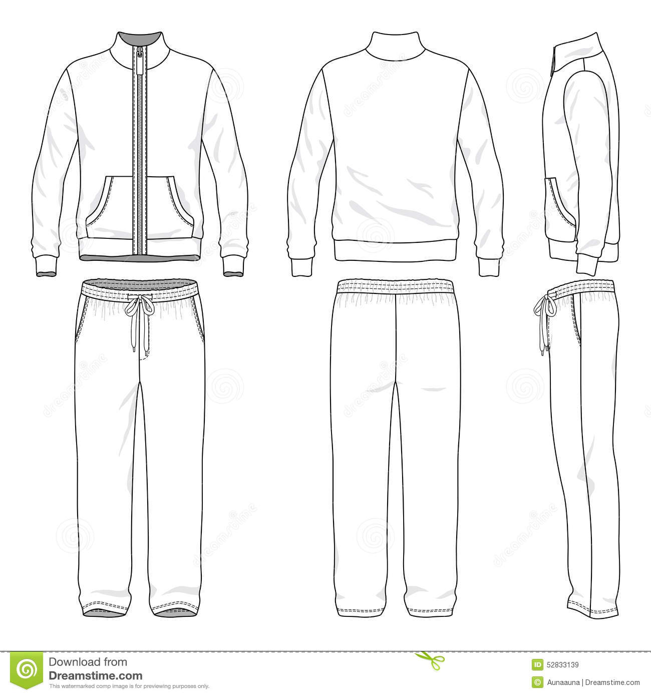 Gym Suit Stock Vector Image 52833139